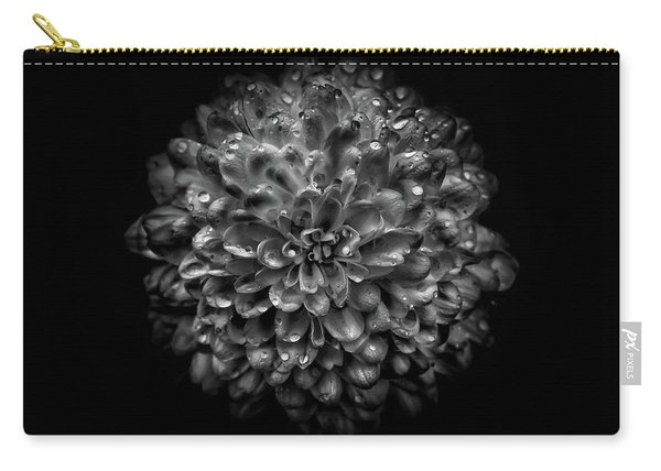 Backyard Flowers In Black And White 46 Carry-all Pouch