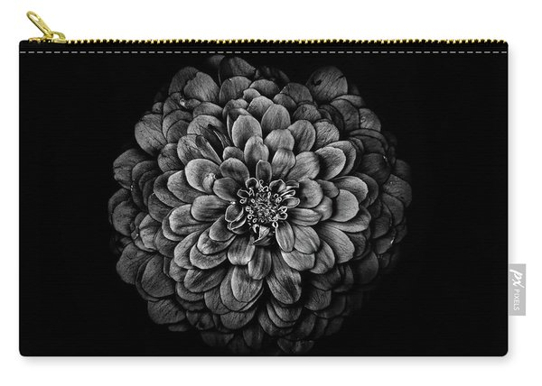 Backyard Flowers In Black And White 54 Carry-all Pouch