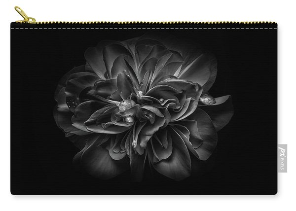 Backyard Flowers In Black And White 67 Carry-all Pouch