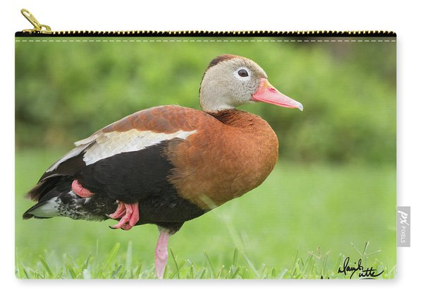 Balancing Black Bellied Whistling Duck Carry-all Pouch