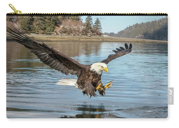 Bald Eagle Fishing In Sadie Cove Carry-all Pouch