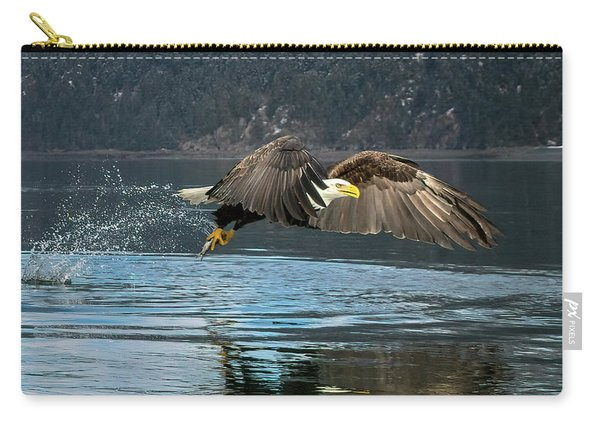 Bald Eagle With Catch Carry-all Pouch
