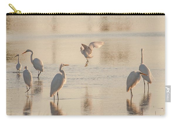 Ballet Of The Egrets Carry-all Pouch