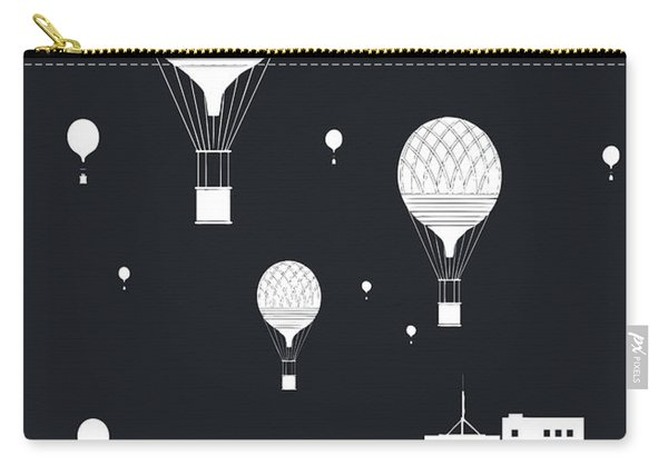 Balloons And The City Carry-all Pouch