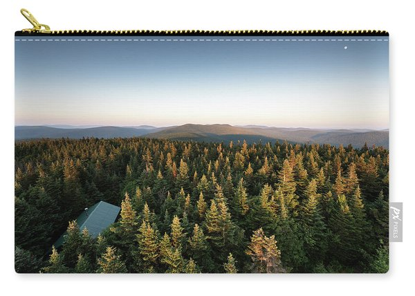 Balsam Lake Mountain Sunset Moon Carry-all Pouch
