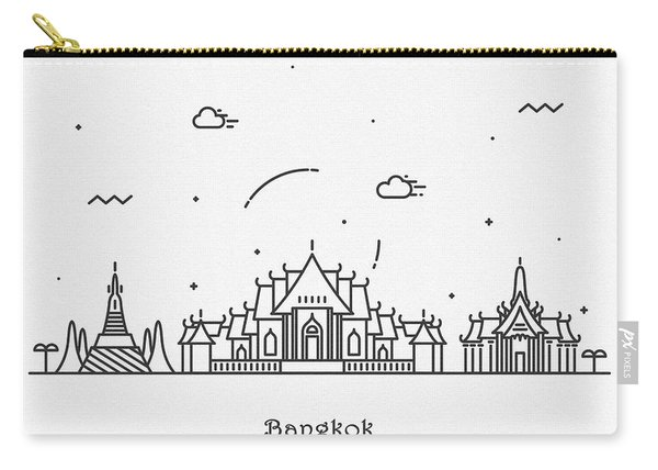 Bangkok Cityscape Travel Poster Carry-all Pouch