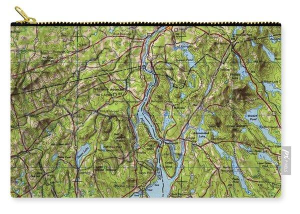 Bangor Maine 1948, Old Vintage Map, Christmas Gift For Office Decoration Carry-all Pouch