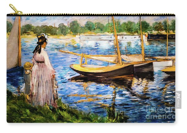 Banks Of The Seine At Argenteuil Carry-all Pouch