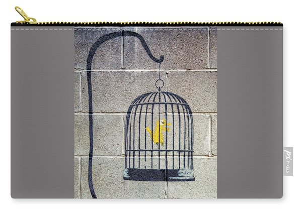 Banksy Bird Cage Detroit Carry-all Pouch
