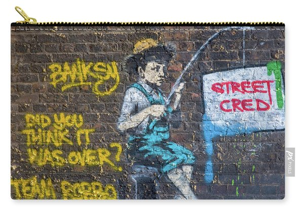 Banksy Boy Fishing Street Cred Carry-all Pouch