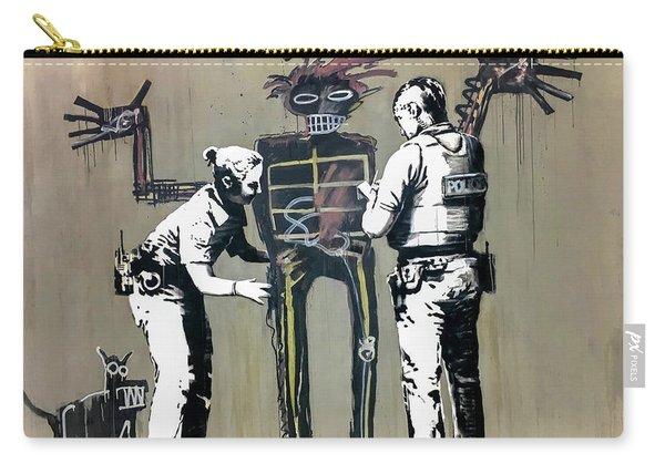 Banksy Coppers Pat Down Carry-all Pouch