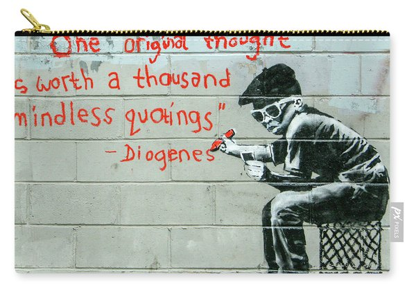 Banksy Diogenes Carry-all Pouch