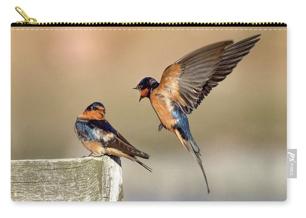 Barn Swallow Conversation Carry-all Pouch