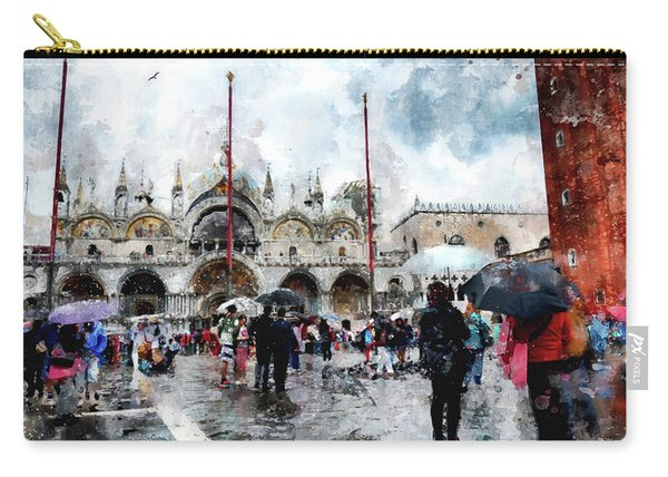 Basilica Of Saint Mark In Venice, Italy - Watercolor Effect Carry-all Pouch