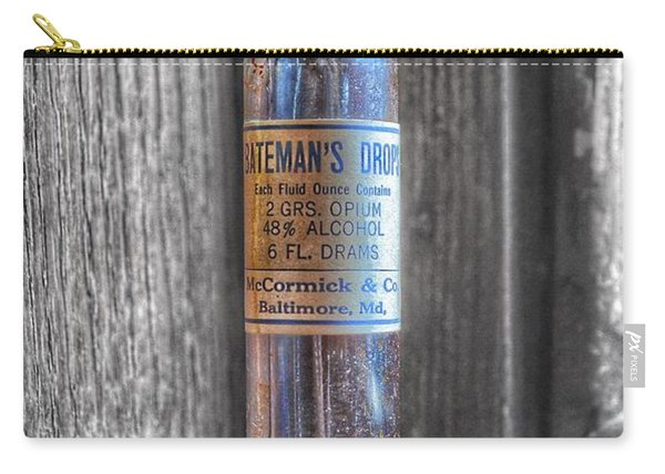 Antique Mccormick And Co Baltimore Md Bateman's Drops Opium Bottle Carry-all Pouch