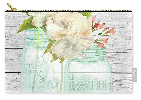 Bath Time Mason Jars D Carry-all Pouch
