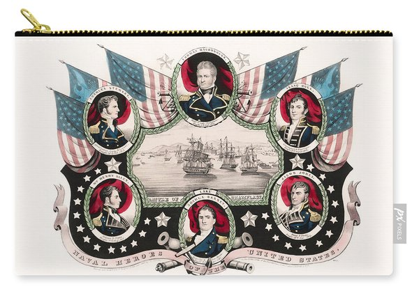 Battle Of Lake Champlain - War Of 1812 Naval Print Carry-all Pouch