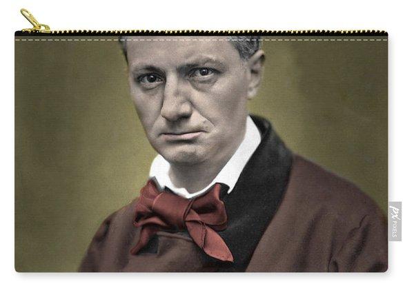 Baudelaire Portrait Colorized Photo Carry-all Pouch