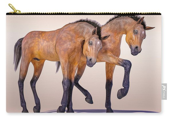 Bay Foal Pair Carry-all Pouch