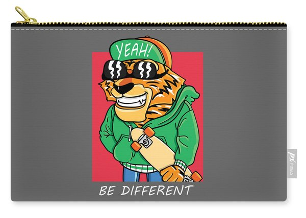 Be Different - Baby Room Nursery Art Poster Print Carry-all Pouch