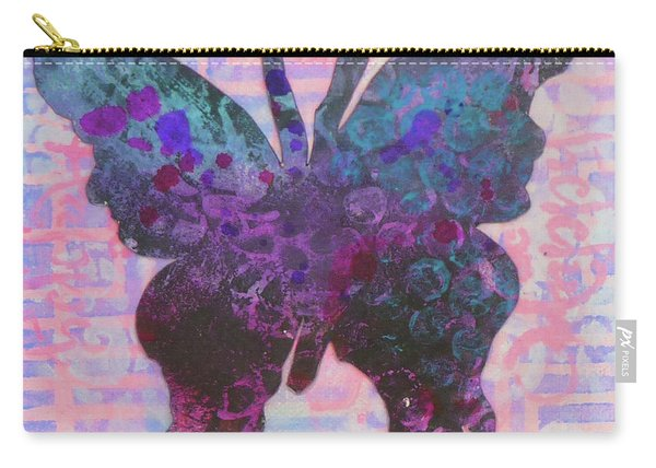 Be Happy Butterfly Carry-all Pouch