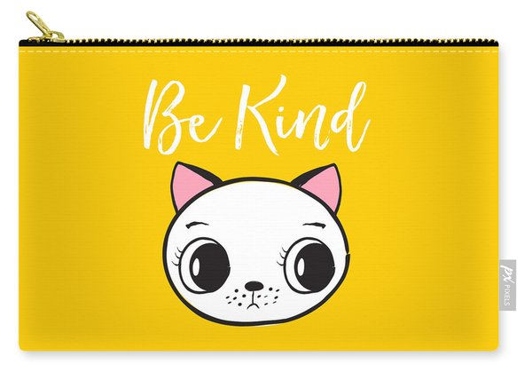 Be Kind - Baby Room Art Poster Print Carry-all Pouch