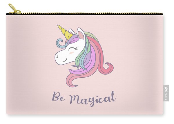 Be Magical - Baby Room Nursery Art Poster Print Carry-all Pouch