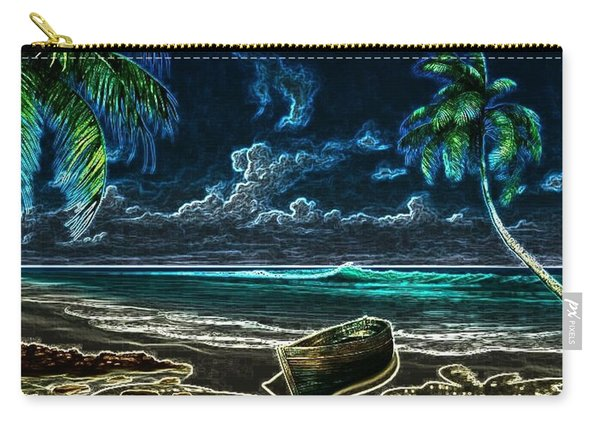 Beach At Night Carry-all Pouch