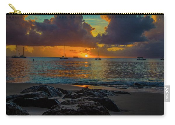 Beach At Sunset Carry-all Pouch