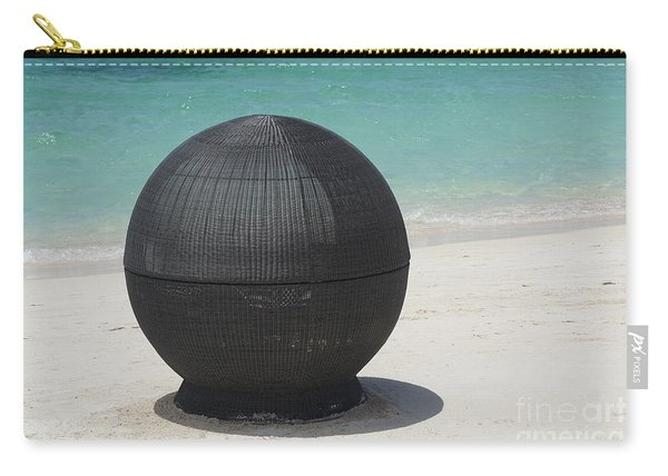 Carry-all Pouch featuring the photograph Beach Chair by Jimmy Clark