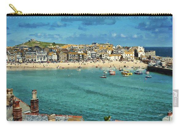 Beach From Across Bay St. Ives, Cornwall, England Carry-all Pouch