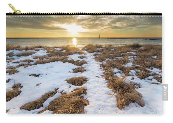 Beach In Frankfort Square Carry-all Pouch