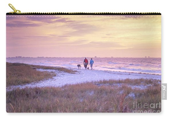 Sunrise Stroll On The Beach Carry-all Pouch