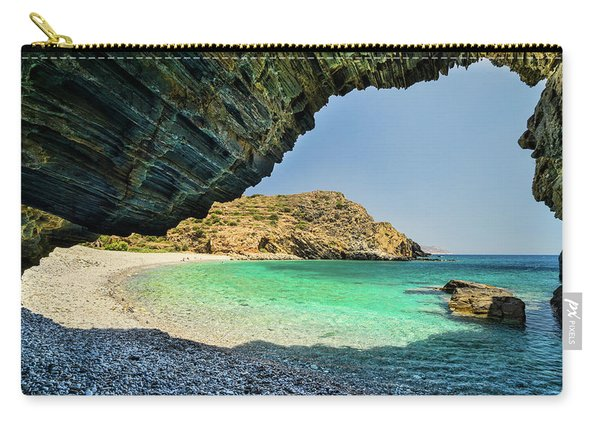 Almiro Beach With Cave Carry-all Pouch