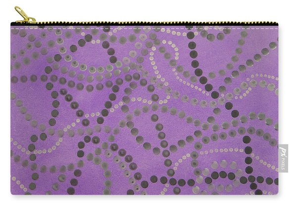 Beads And Pearls - Gray Carry-all Pouch