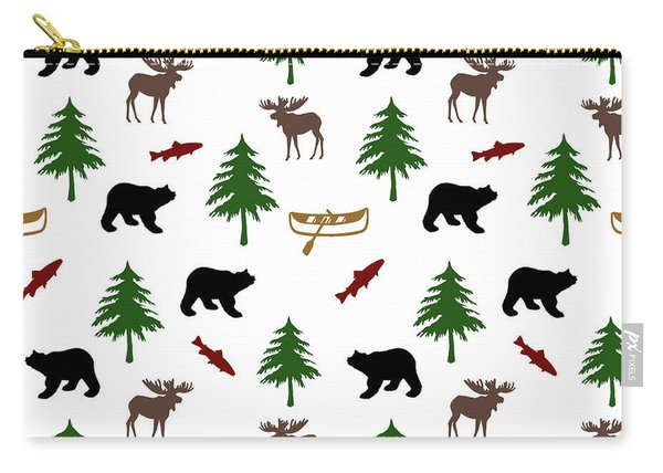 Bear Moose Pattern Carry-all Pouch