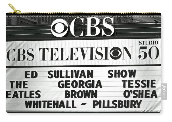 Beatles - Ed Sullivan Show Marquee 1964 Carry-all Pouch