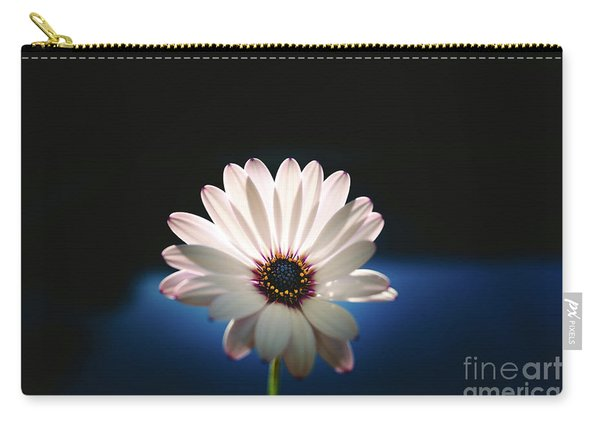 Beautiful And Delicate White Female Flower Dark Background Illum Carry-all Pouch