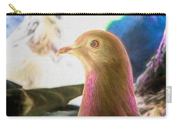 Carry-all Pouch featuring the photograph Beautiful Homing Pigeon Painted by Don Northup
