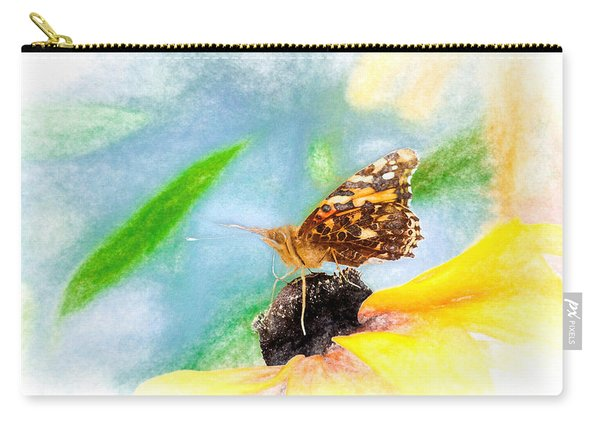 Carry-all Pouch featuring the photograph Beautiful Painted Lady Butterfly by Don Northup