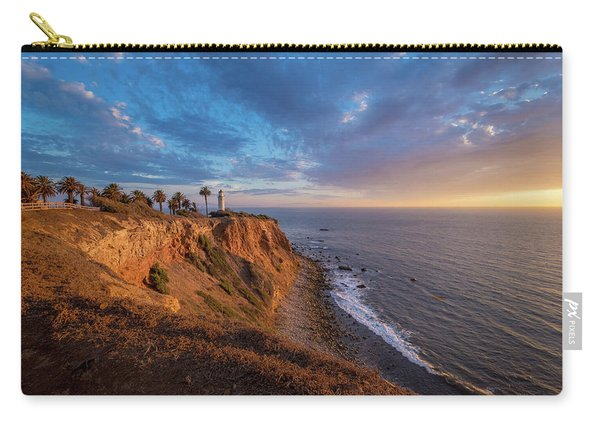 Beautiful Point Vicente Lighthouse At Sunset Carry-all Pouch