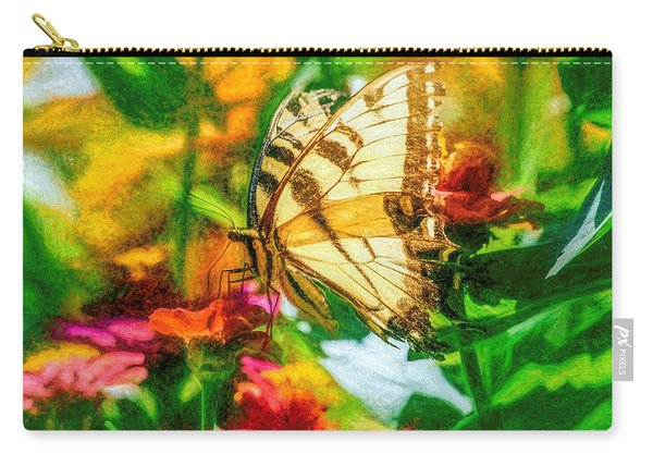 Carry-all Pouch featuring the photograph Beautiful Swallow Tail Butterfly by Don Northup