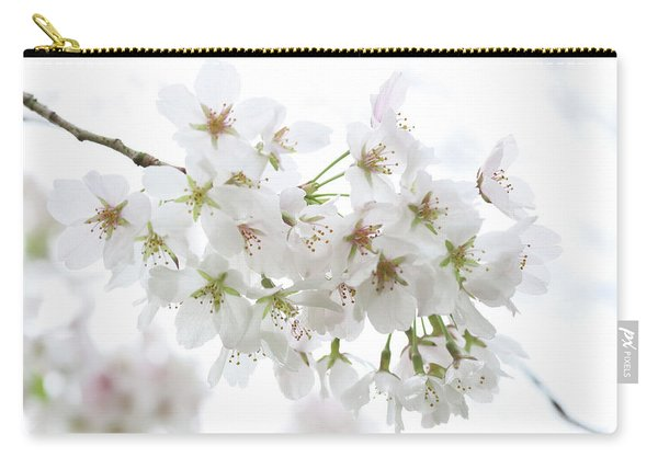 Beautiful White Cherry Blossoms Carry-all Pouch