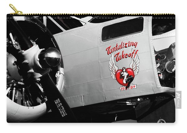 Beech At-11 In Selective Color Carry-all Pouch