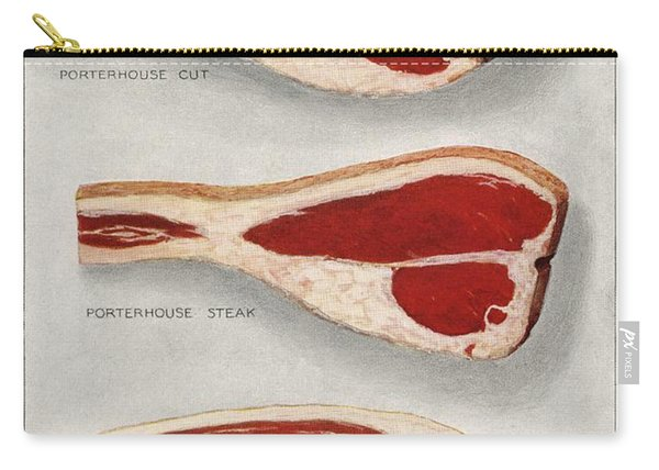 Beef Sirloins From The Book  The Grocer S Encyclopedia  1911  Carry-all Pouch