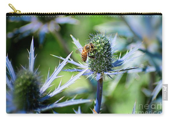 Carry-all Pouch featuring the photograph Bee's Got The Blues by Susan Warren