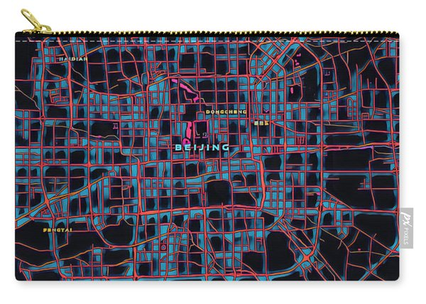 Beijing City Map Carry-all Pouch