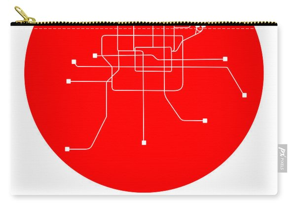 Beijing Red Subway Map Carry-all Pouch