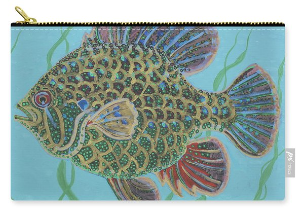 Bejeweled Bluegill Carry-all Pouch