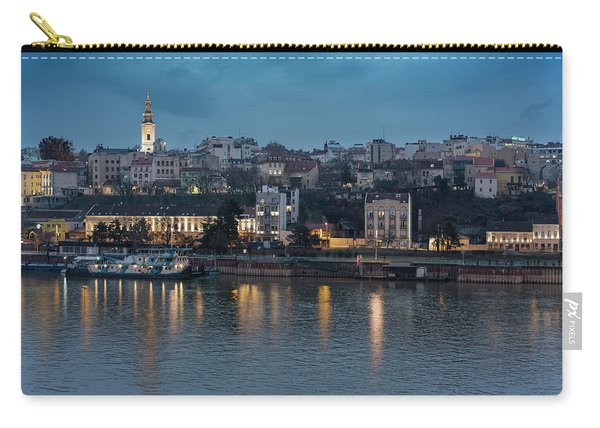 Belgrade Skyline And Sava River Carry-all Pouch